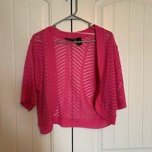 Pink Crochet XL Cardigan